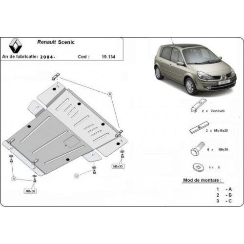 Renault Scenic, 2004-2008 - Acél Motorvédő lemez