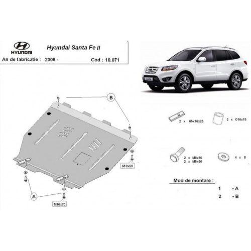 Hyundai Santa Fe II, 2006-2011 - Acél Motorvédő lemez