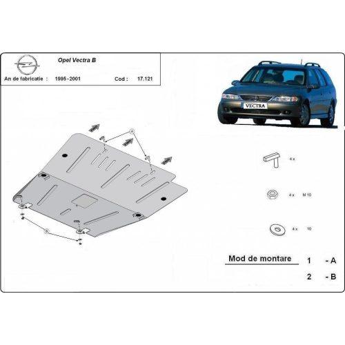 Opel Vectra B, 1995-2001 - Acél Motorvédő lemez