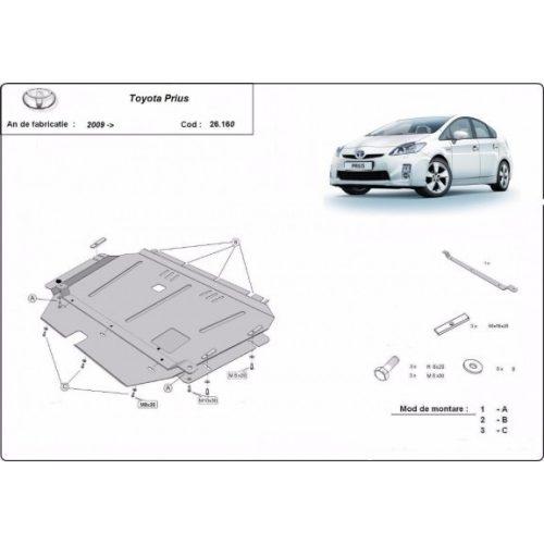 Toyota Prius 3, 2009-2015 - Acél Motorvédő lemez