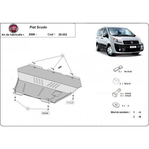 Fiat Scudo, 2006-2016 - Motorvédő lemez
