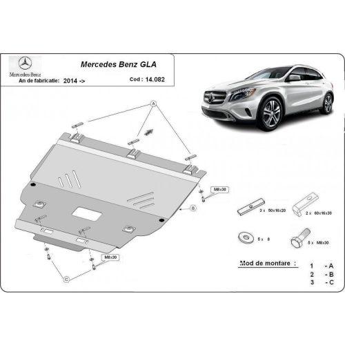 Mercedes GLA X156, 2014-2020 - Motorvédő lemez