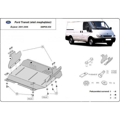 Ford Transit, (FWD) 2001-2006 - Acél Motorvédő lemez
