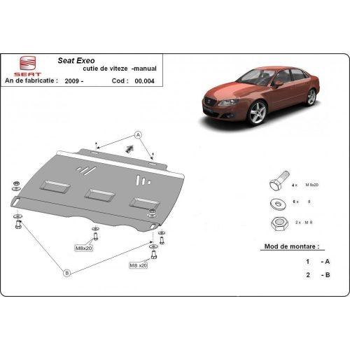 Seat Exeo, 2009-2020 - Acél MANUÁL váltóvédő lemez
