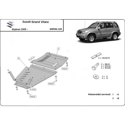 Suzuki Grand Vitara / XL7, 2005-2020 - Differenciálmű védő