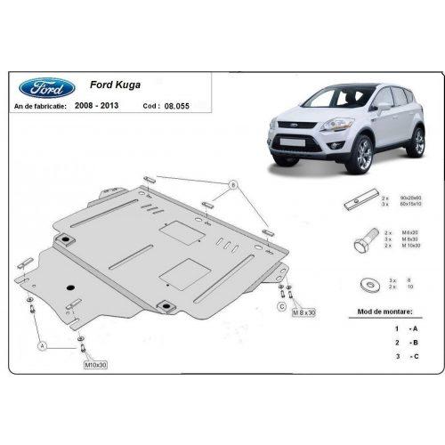 Ford Kuga, 2008-2012 - Acél Motorvédő lemez