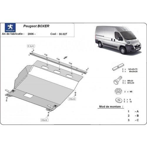 Peugeot Boxer, 2006-2020 - Acél Motorvédő lemez