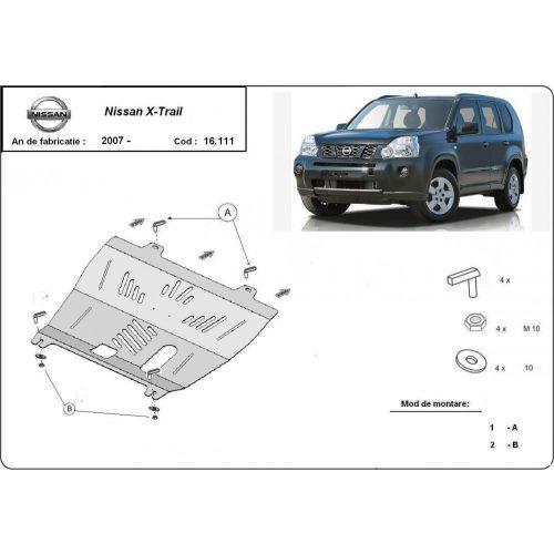 Nissan X-Trail T31, 2007-2013 - Acél Motorvédő lemez