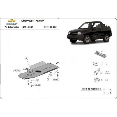 Chevrolet Tracker, 1999-2005 - Acél Váltóvédő lemez