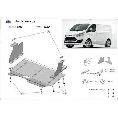 Ford Transit Custom, 2013-2020 - Motorvédő lemez
