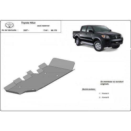 Toyota Hilux II, 2004-2015 - Acél Üzemanyagtank védő