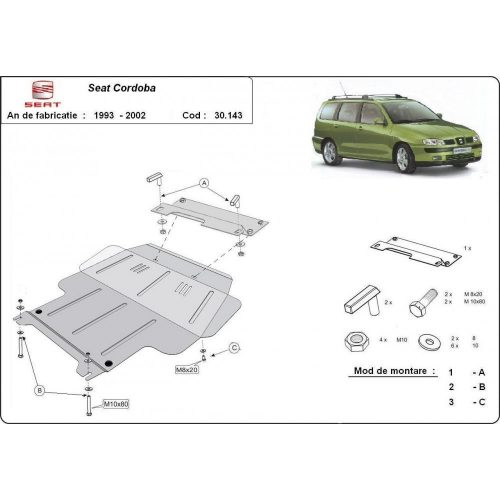 Seat Cordoba, 1993-2001 - Motorvédő lemez