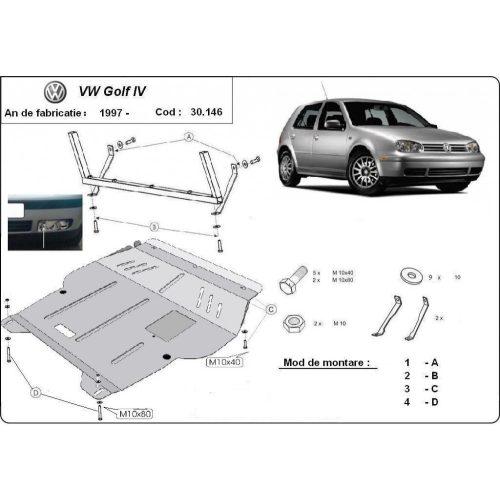 VW Golf 4, 1998-2005 - Motorvédő lemez