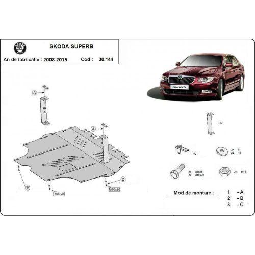 Skoda SuperB, 2008-2020 - Acél Motorvédő lemez