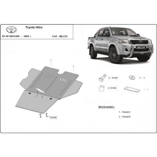 Toyota Hilux, 2004-2020 - Acél Diffi-, és részecskeszűrő védő lemez