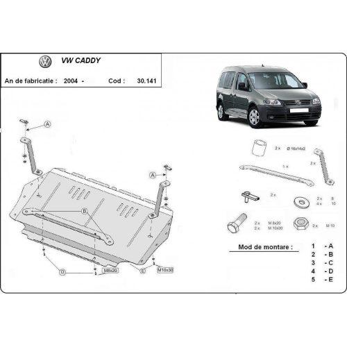 VW Caddy, 2004-2010 - Motorvédő lemez