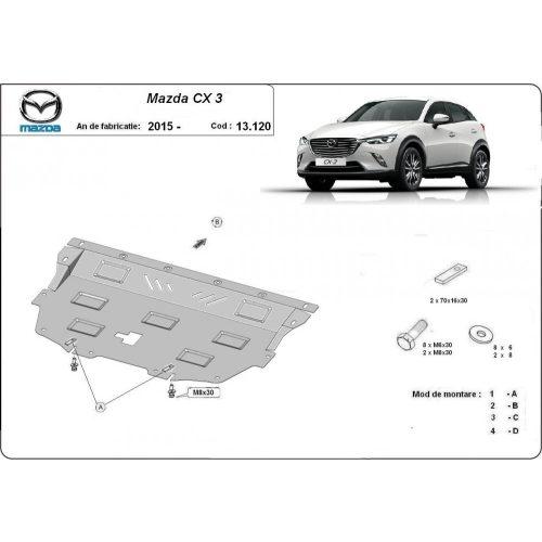 Mazda CX3, 2015-2020 - Acél Motorvédő lemez