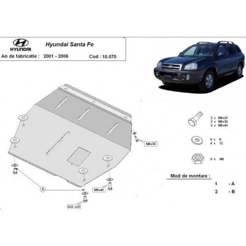Hyundai Santa Fe, 2001-2006 - Motorvédő lemez