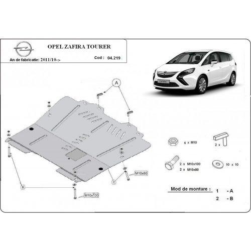 Opel Zafira C, 2011-2020 - Acél Motorvédő lemez
