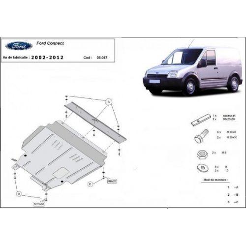Ford Transit Connect, 2002-2012 - Acél Motorvédő lemez