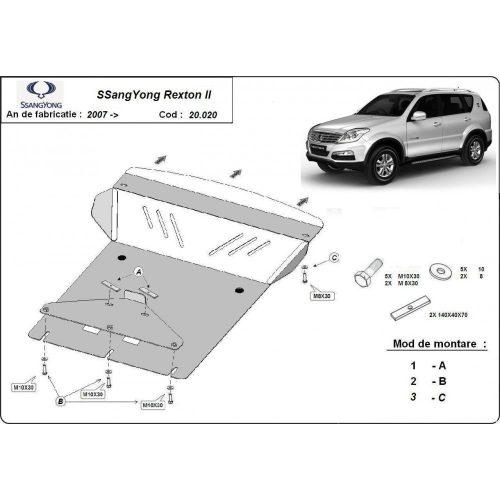 Ssangyong Rexton II 2007-2020 - Acél Motorvédő lemez