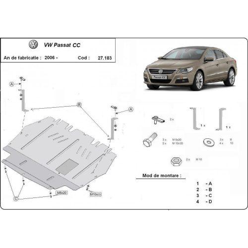 VW Passat CC, 2005-2014 - Motorvédő lemez