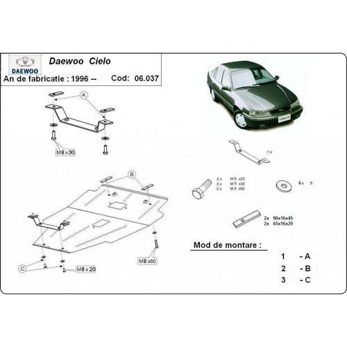Daewoo Cielo, 1995-2008 - Motorvédő lemez