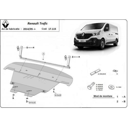 Renault Trafic, 2014-2020 - Acél Motorvédő lemez