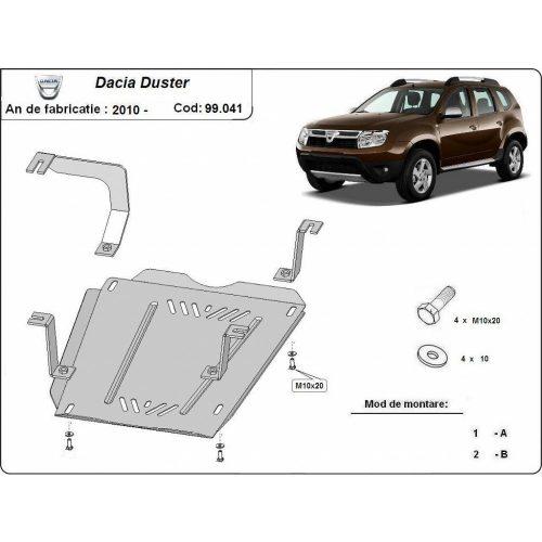 Dacia Duster, 2010-2017 - Acél Üzemanyagtank védő lemez