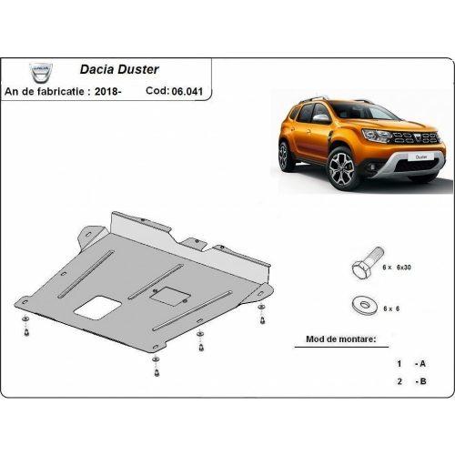 Dacia Duster II ÚJ, 2018- Acél 2020 - Acél Motorvédő lemez
