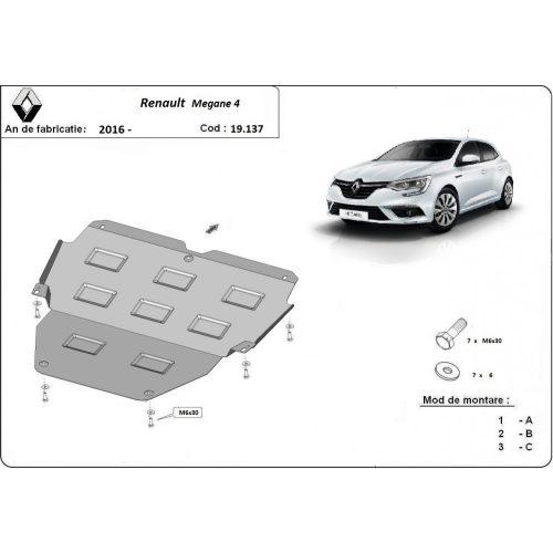 Renault Megane 4, 2016-2020 - Acél Motorvédő lemez