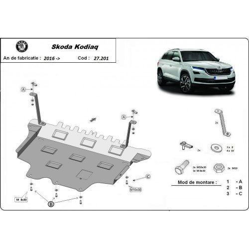 Skoda Kodiaq, 2016-2020 - Acél Motorvédő lemez