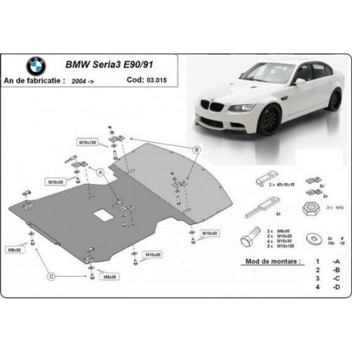 BMW 3 E90/91, 2004-2011 - Motorvédő lemez