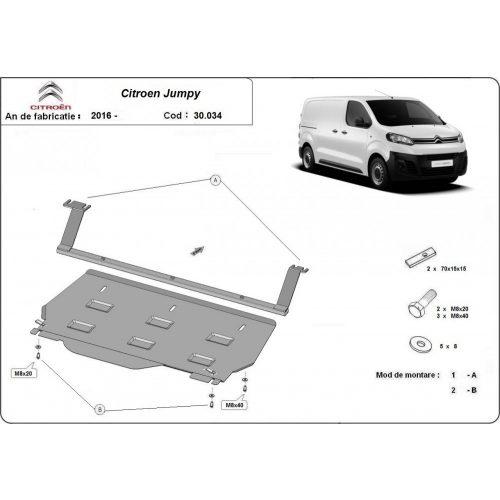 Citroen Jumpy, 2016-2020 - Acél Motorvédő lemez