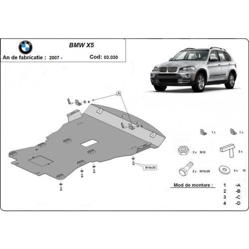 BMW X5, E70, F15, 2007-2020 - Motorvédő lemez