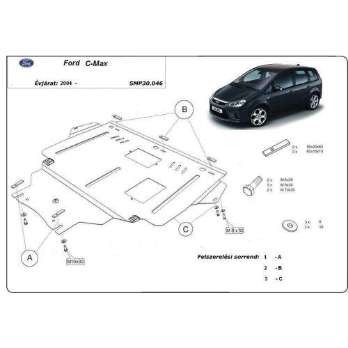 Ford C-max,2004-2010 - Acél Motorvédő lemez