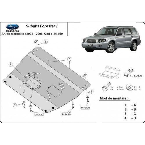 Subaru Forester2, 2002-2008 - Acél Motorvédő lemez
