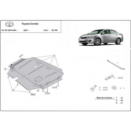 Toyota Corolla, 2007-2020 - Motorvédő lemez