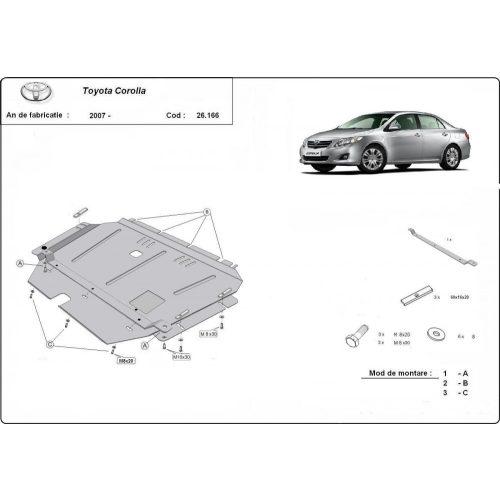 Toyota Corolla, 2007-2020 - Acél Motorvédő lemez