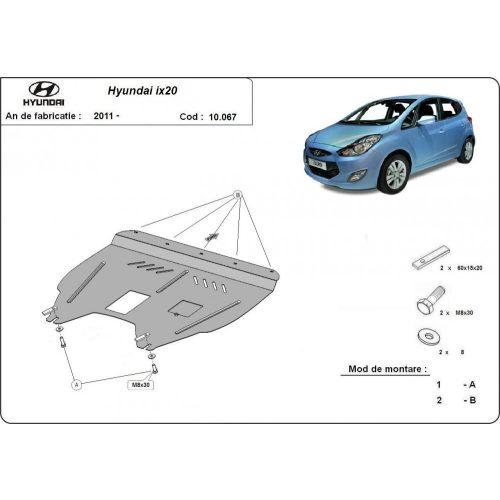 Hyundai ix20, 2011-2020 - Acél Motorvédő lemez
