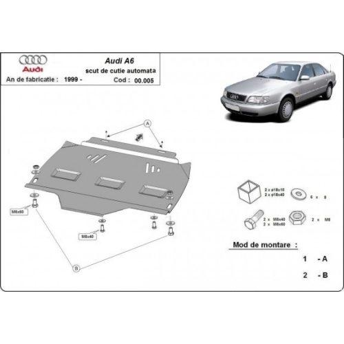 Audi A6 1997-2004 - Acél AUTOMATA váltóvédő lemez