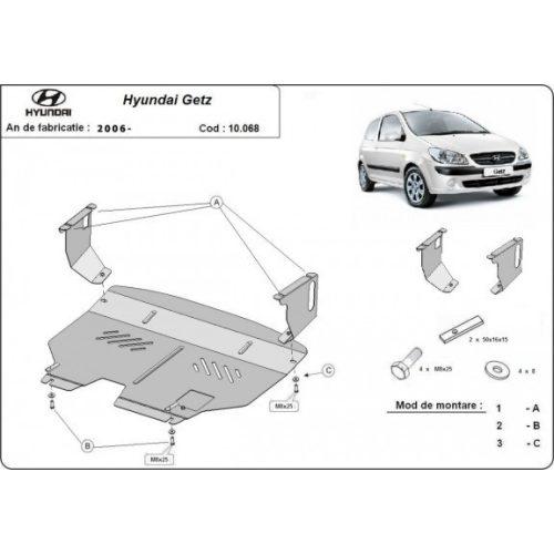 Hyundai Getz, 2006-2010 - Acél Motorvédő lemez