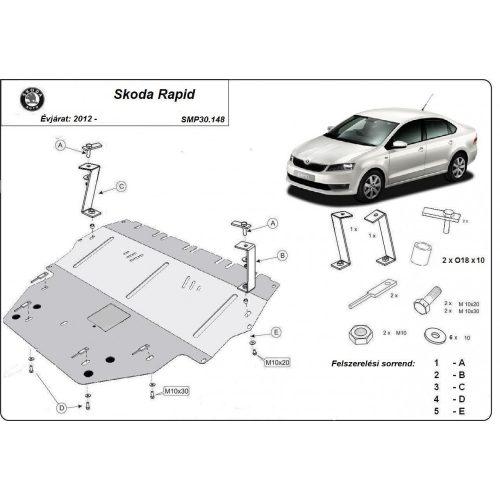 Skoda Rapid, 2012-2020 - Acél Motorvédő lemez