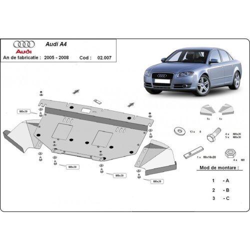 Audi A4, 2005-2008 - Acél Motorvédő lemez