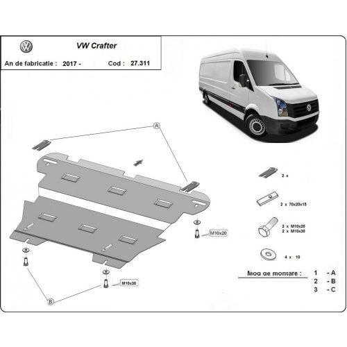 VW Crafter, 2017-2020 - Motorvédő lemez