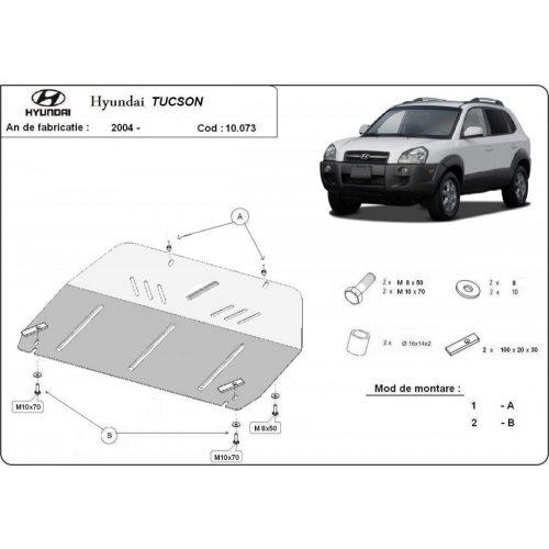 Hyundai Tucson, 2004-2021 - Acél Motorvédő lemez