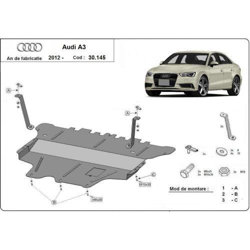 Audi A3, 2012-2020 manuál - Motorvédő lemez
