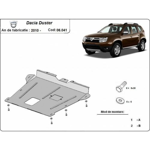 Dacia Duster 2010-2017 - Motor- és váltóvédő lemez