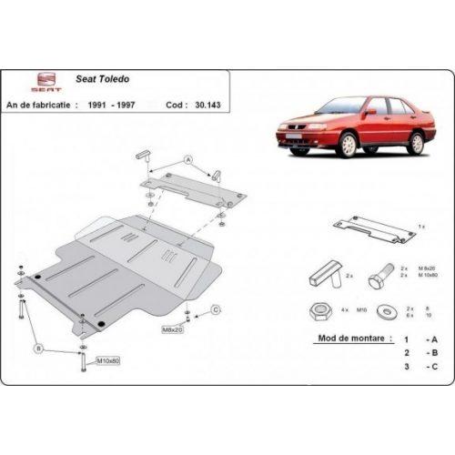 Seat Toledo, 1991-1997 - Acél Motorvédő lemez