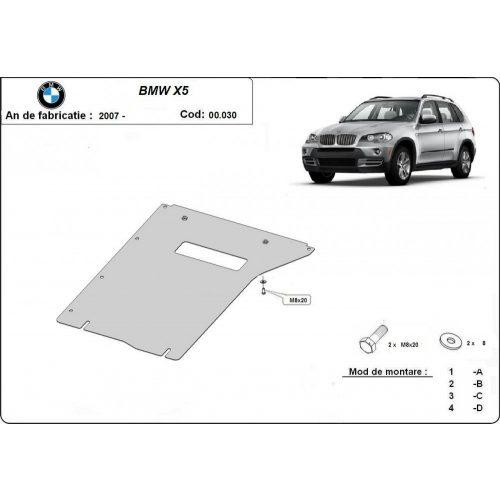 BMW X5, E70, F15, 2007-2020 - Váltóvédő lemez